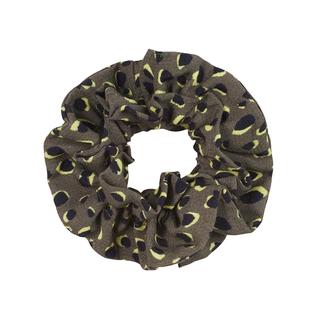 Groene scrunchie Juicy Leopard