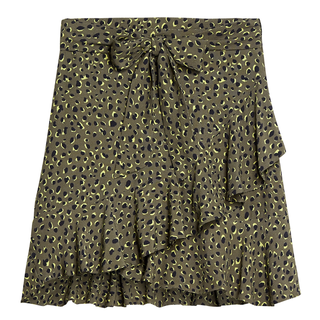 Groen geprinte rok Juicy Leopard
