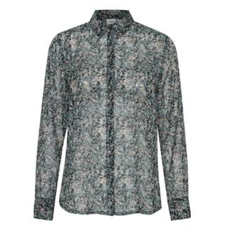 Groen geprinte blouse Izzie