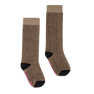 Bruin geprinte sokken April