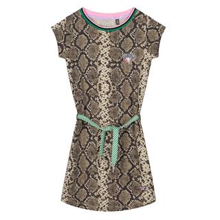 Bruin geprinte jurk Aafje