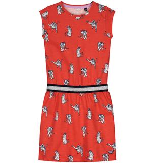 Rood geprinte jurk Alette