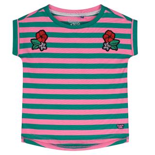 Roze gestreept t-shirt Aliah