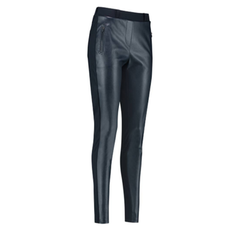 Donkerblauwe broek Margot Leather