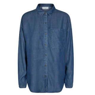 Blauwe denim blouse Wayne