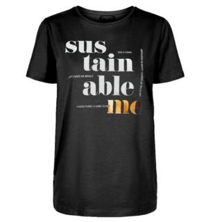 Zwart t-shirt Fenja