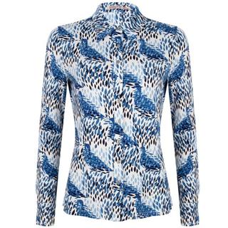 Blauw geprinte blouse 3002