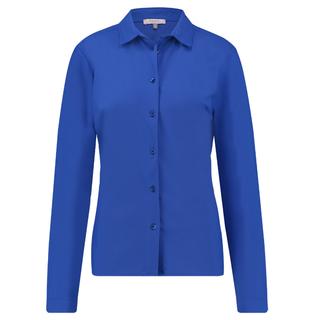 Kobaltblauwe blouse Flower