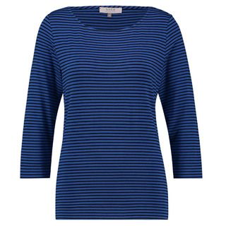 Blauw geprinte top Milena Stripe