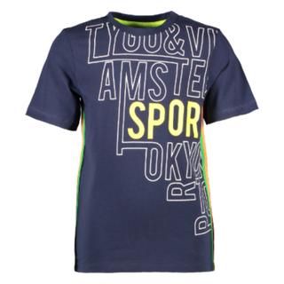 Donkerblauw t-shirt Sport