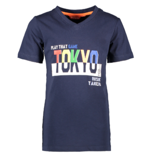 Donkerblauw t-shirt Tokyo