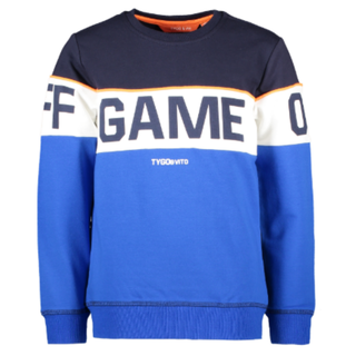 Donkerblauwe sweater Game On-Off