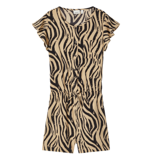 Geprinte playsuit Kinaya Zebra
