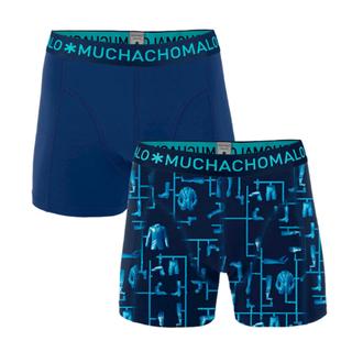 Blauw geprinte shorts Kitt