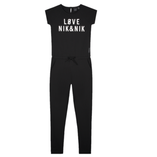 Zwarte jumpsuit Love