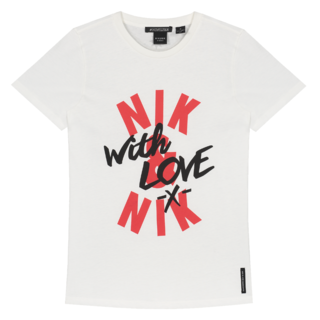 Wit t-shirt With Love