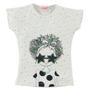 Wit t-shirt Yvette