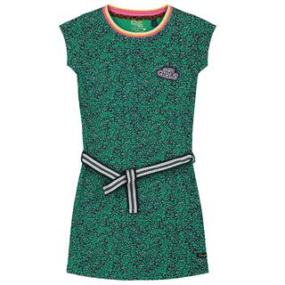 Groen geprinte jurk Aafje