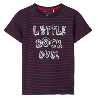 Donkerblauw gestreept t-shirt Dylan