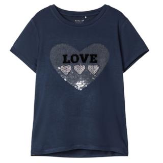 Donkerblauw t-shirt Falba