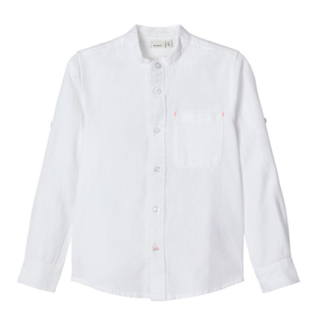 Witte blouse Fish