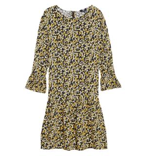 Geel geprinte jurk Buttercup