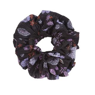 Zwarte scrunchie Cherry Blossom