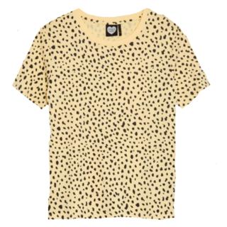 Geel geprint t-shirt Fancy Spots