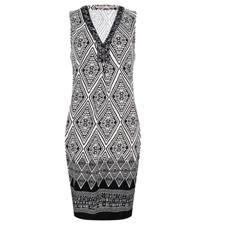Geprinte jurk 30205