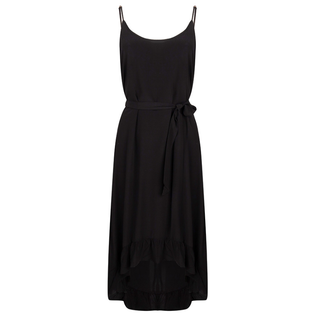 Zwarte solid jurk 30234