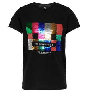Zwart geprint t-shirt Lizzy