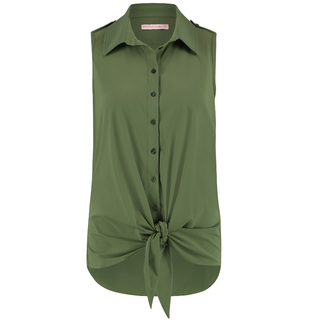 Armygroene top Poppy Knot