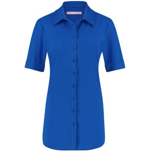 Kobaltblauwe blouse Poppy SS