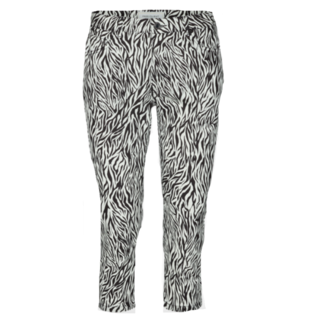 Zwart geprinte capri Zebra