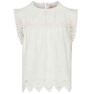 Witte top Sabryna