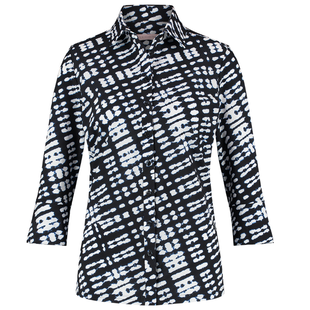 Geprinte blouse Poppy Tie Dye