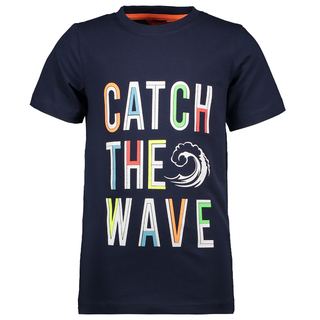 Donkerblauw t-shirt Catch the Wave