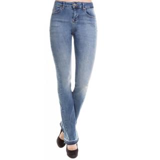 Blauwe jeans flare Daffy W7372