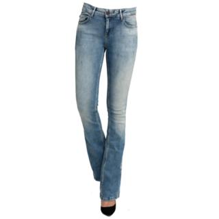 Blauwe jeans flare Daffy W7390