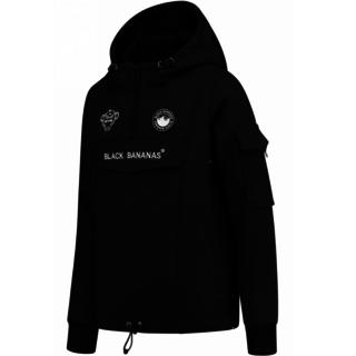 Zwarte fleece jacket F.c. Anorak