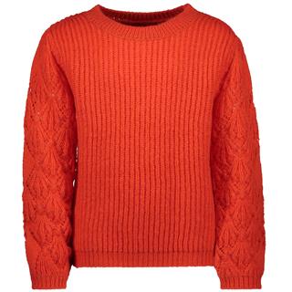 Oranje ajour sweater 5341