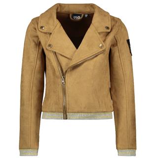Beige suede biker jacket 5355