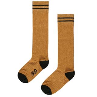 Gele lurex sokken 5945