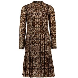 Beige animal mesh jurk 5846