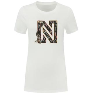 Wit t-shirt Ikat N Logo