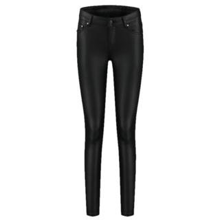 Zwarte broek Betty Coated Pearl