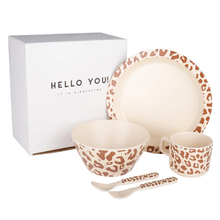 Leopard tableware set