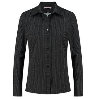 Zwart shirt Poppy Pinstripe