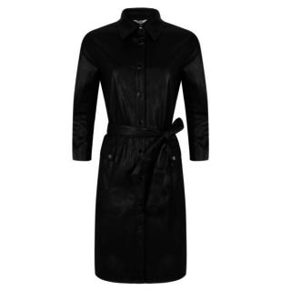 Zwarte jurk PU 04518
