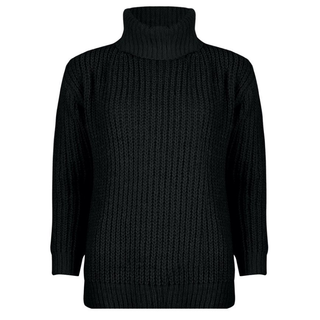Zwarte sweater col 02520